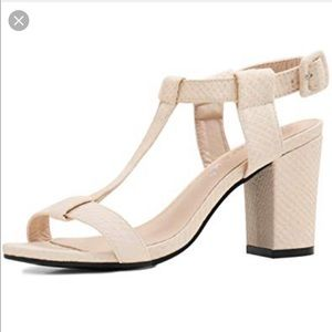 84cbf7a748e1a 2 for $20 Women's Textured T-strap Chunky Heels 👡